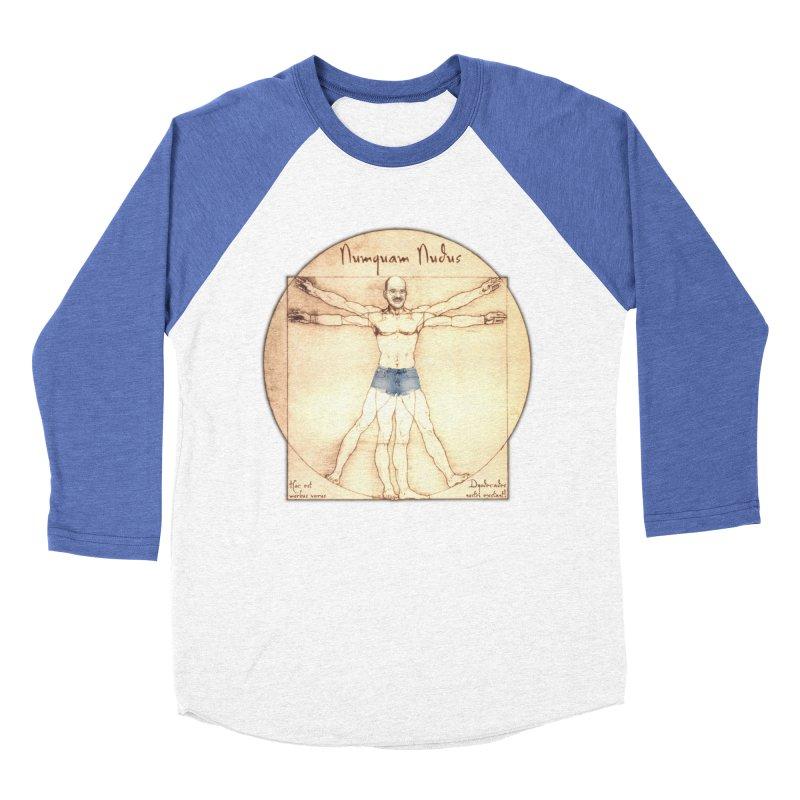 Never Nude Women's Baseball Triblend T-Shirt by Breath of Life Art Studio Shop