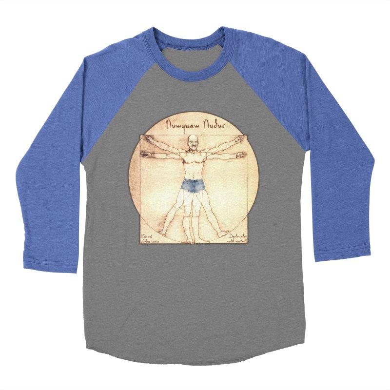 Never Nude Women's Baseball Triblend T-Shirt by joshforeman's Artist Shop