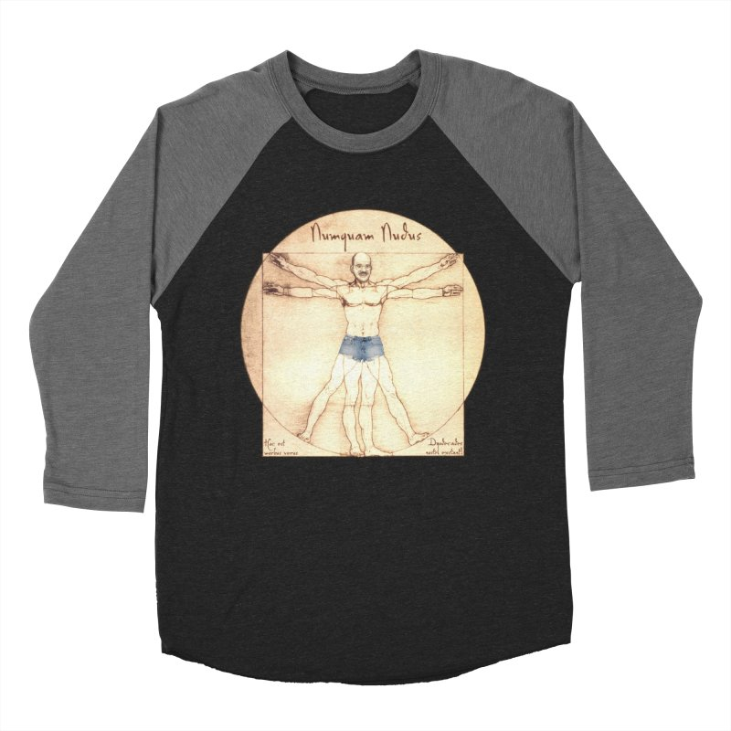Never Nude Men's Baseball Triblend T-Shirt by Breath of Life Art Studio Shop