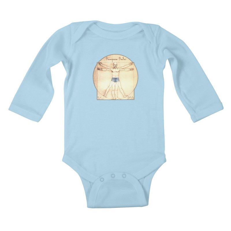 Never Nude Kids Baby Longsleeve Bodysuit by joshforeman's Artist Shop