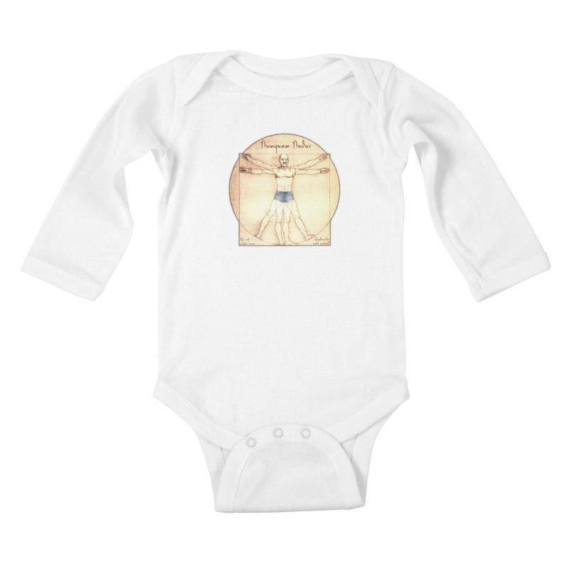 Never Nude Kids Baby Longsleeve Bodysuit by Breath of Life Art Studio Shop