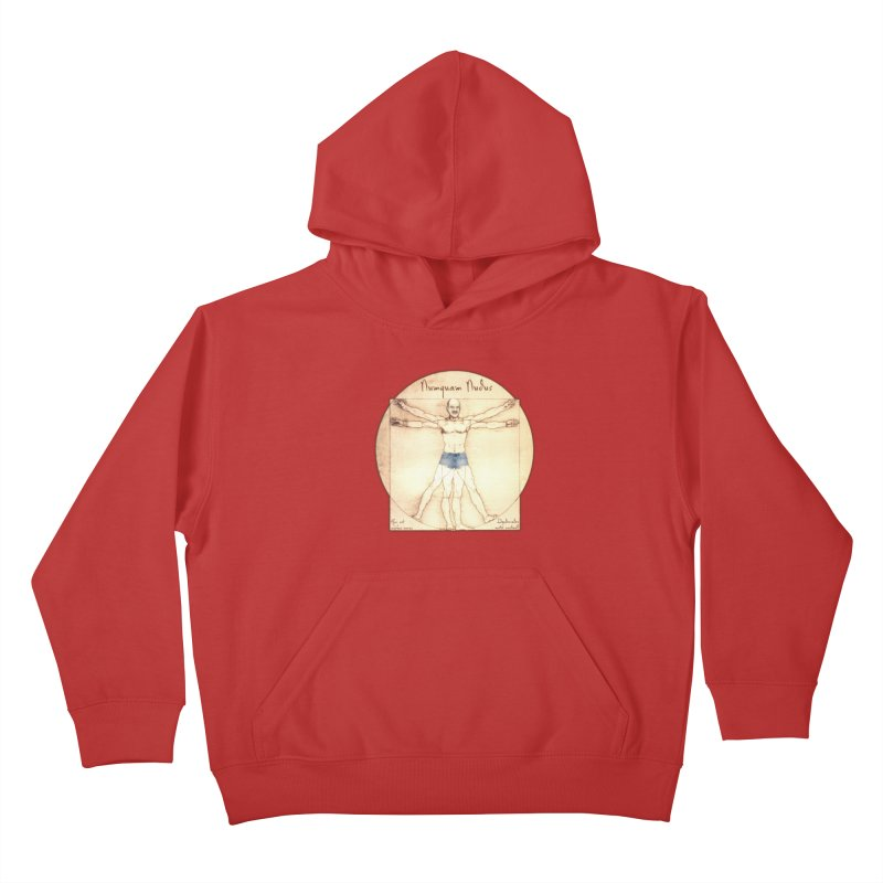 Never Nude Kids Pullover Hoody by Breath of Life Art Studio Shop