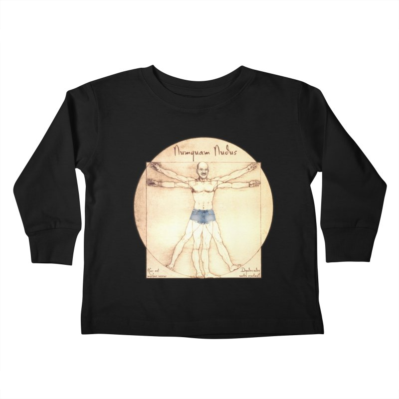 Never Nude Kids Toddler Longsleeve T-Shirt by Breath of Life Art Studio Shop