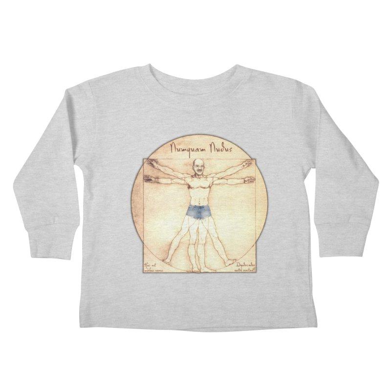 Never Nude Kids Toddler Longsleeve T-Shirt by Breath of Life Art Studio Shop