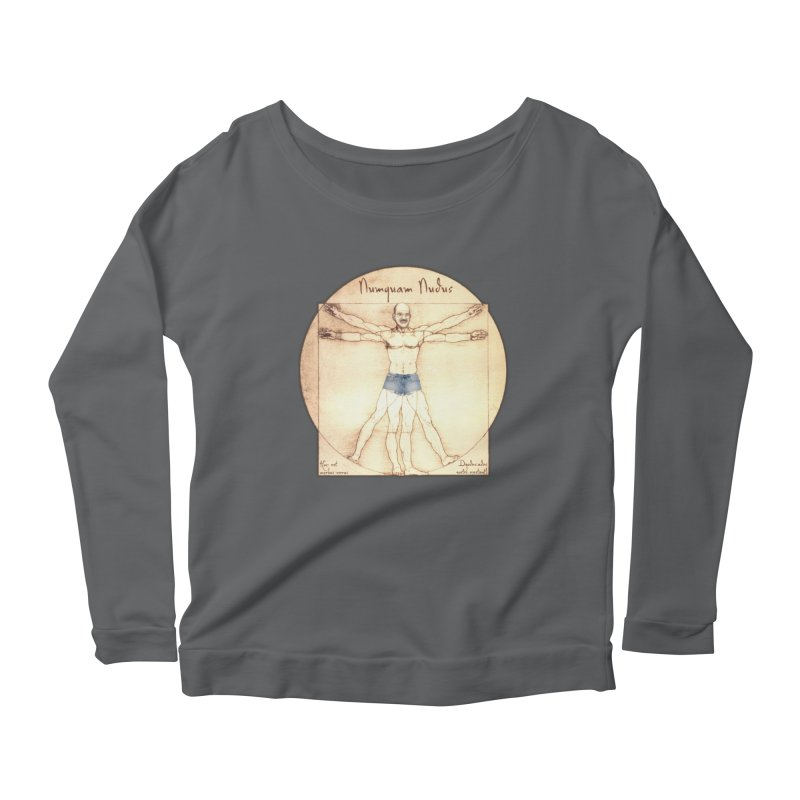 Never Nude Women's Longsleeve Scoopneck  by Breath of Life Art Studio Shop