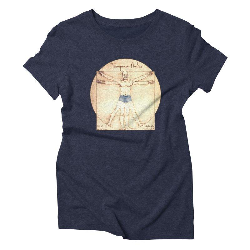 Never Nude Women's Triblend T-shirt by joshforeman's Artist Shop