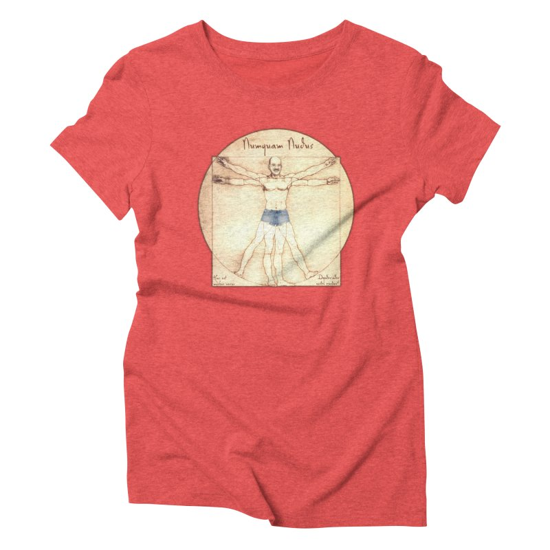 Never Nude Women's Triblend T-Shirt by Breath of Life Art Studio Shop