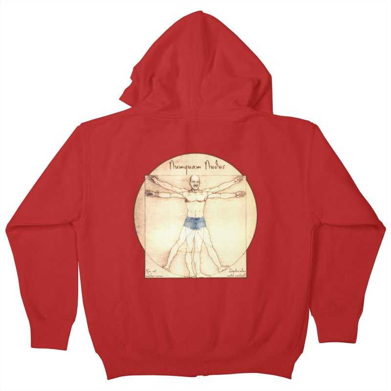 Never Nude Kids Zip-Up Hoody by joshforeman's Artist Shop