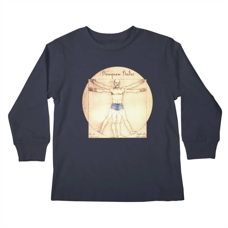 Never Nude Kids Longsleeve T-Shirt by joshforeman's Artist Shop
