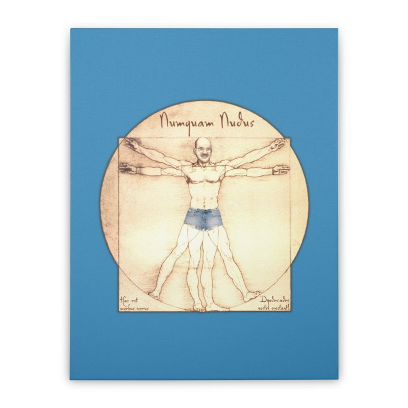 Never Nude Home Stretched Canvas by Breath of Life Development Merch Shop