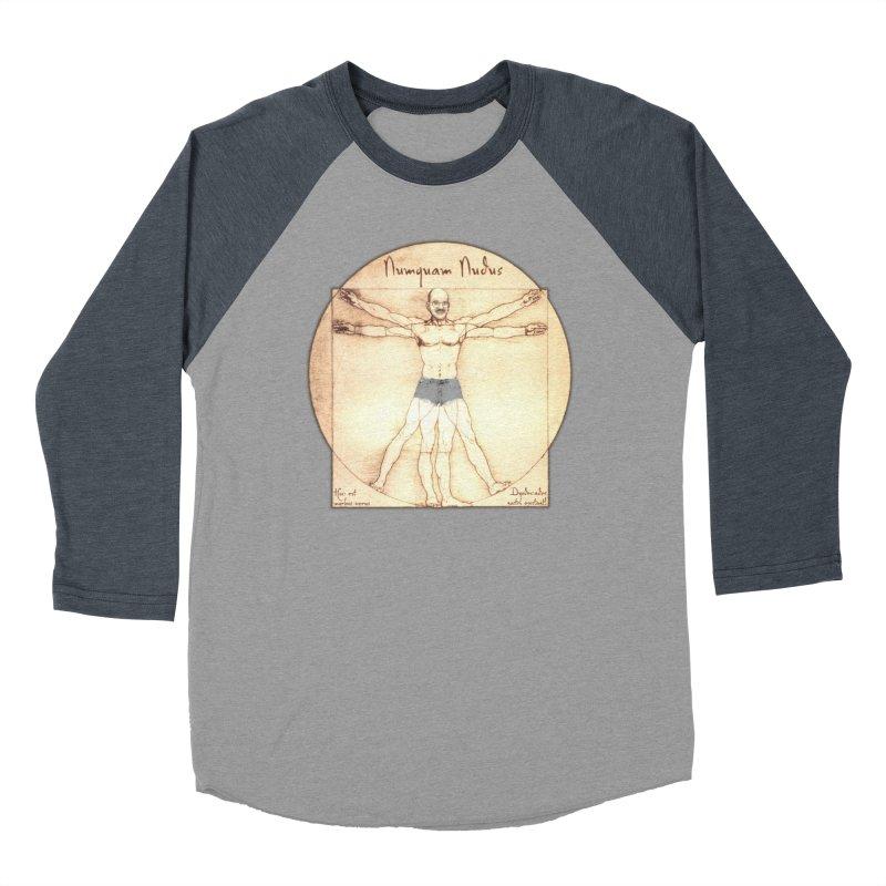 Never Nude (Matching Shorts) Men's Baseball Triblend T-Shirt by Breath of Life Art Studio Shop