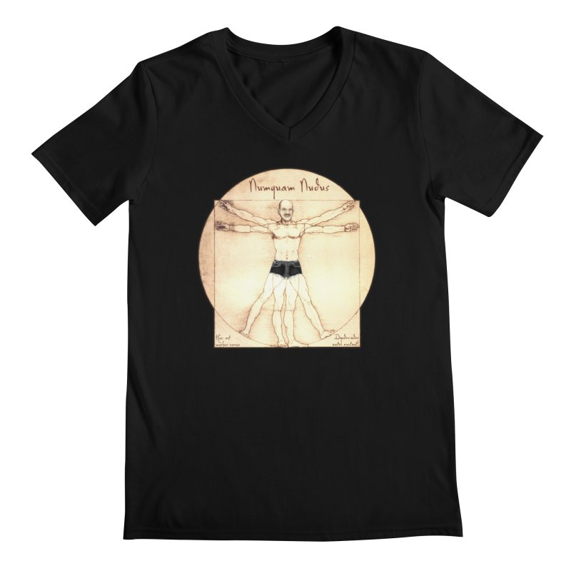 Never Nude (Matching Shorts) Men's V-Neck by Breath of Life Art Studio Shop