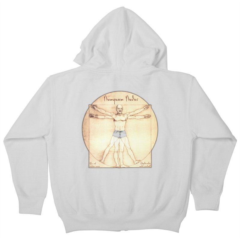 Never Nude (Matching Shorts) Kids Zip-Up Hoody by Breath of Life Art Studio Shop