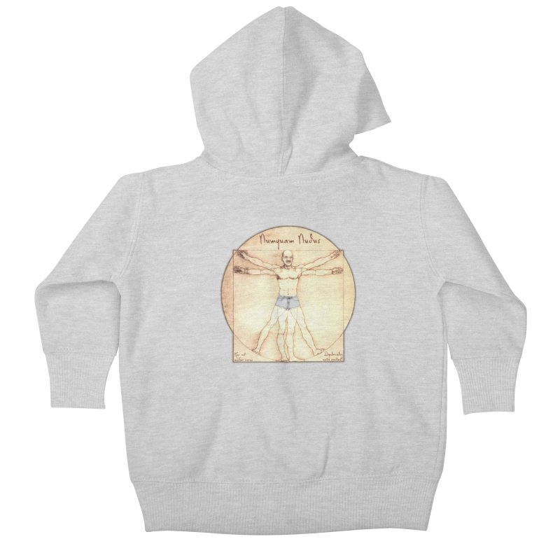 Never Nude (Matching Shorts) Kids Baby Zip-Up Hoody by Breath of Life Art Studio Shop