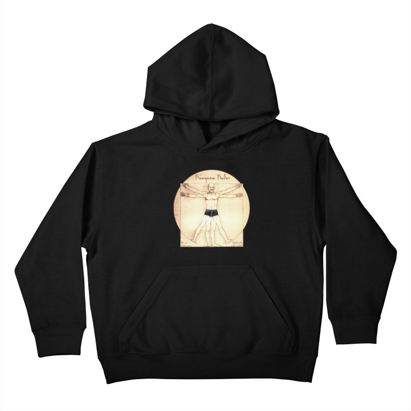 Never Nude (Matching Shorts) Kids Pullover Hoody by Breath of Life Art Studio Shop
