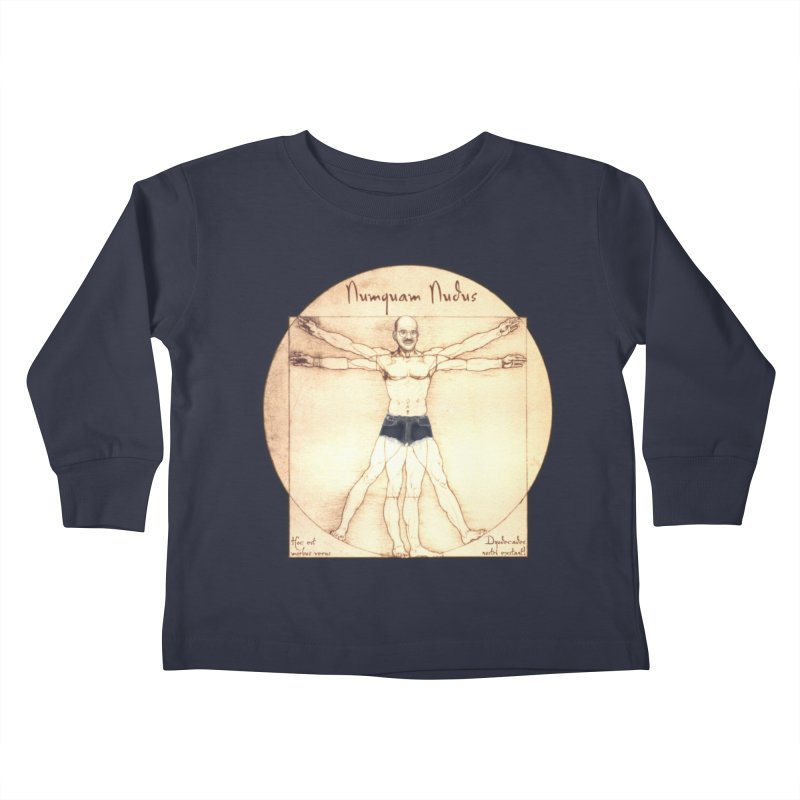 Never Nude (Matching Shorts) Kids Toddler Longsleeve T-Shirt by Breath of Life Art Studio Shop