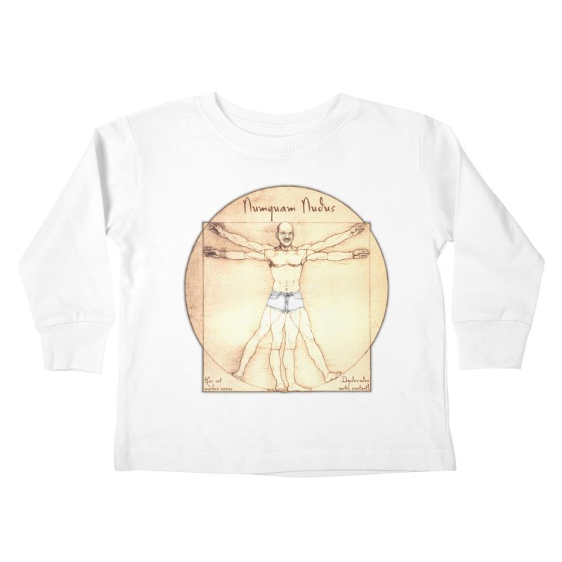 Never Nude (Matching Shorts) Kids Toddler Longsleeve T-Shirt by joshforeman's Artist Shop