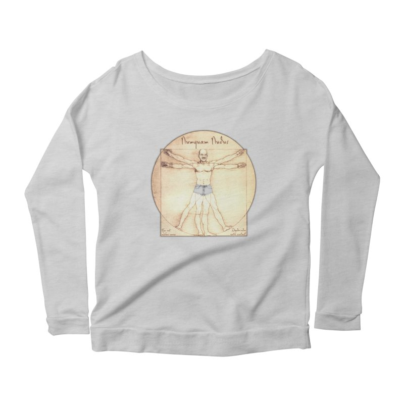 Never Nude (Matching Shorts) Women's Longsleeve Scoopneck  by Breath of Life Art Studio Shop