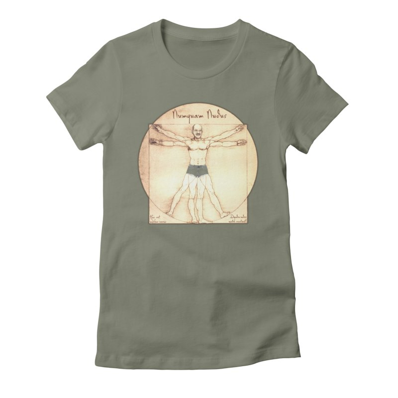 Never Nude (Matching Shorts) Women's Fitted T-Shirt by Breath of Life Art Studio Shop