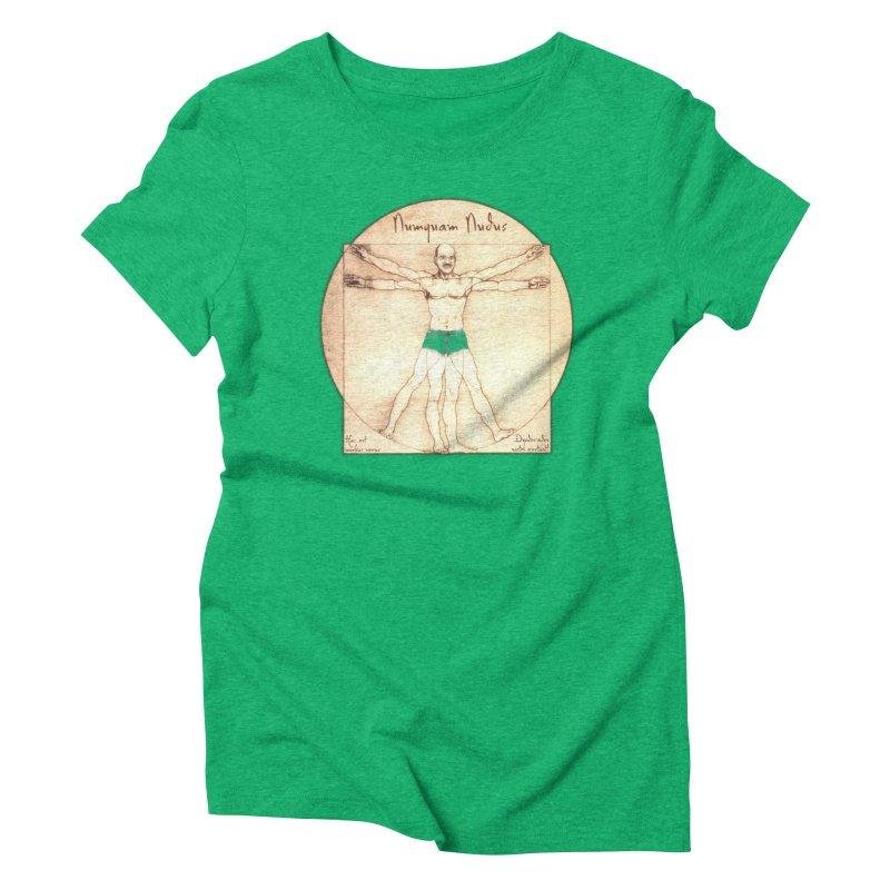 Never Nude (Matching Shorts) Women's Triblend T-shirt by joshforeman's Artist Shop
