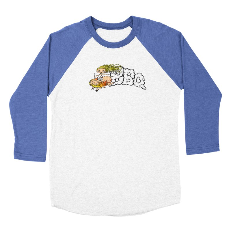 BBQ Women's Baseball Triblend Longsleeve T-Shirt by Breath of Life Development Merch Shop