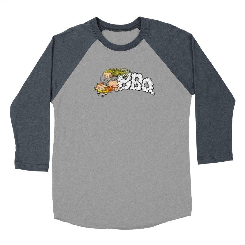 BBQ Men's Baseball Triblend T-Shirt by Breath of Life Art Studio Shop
