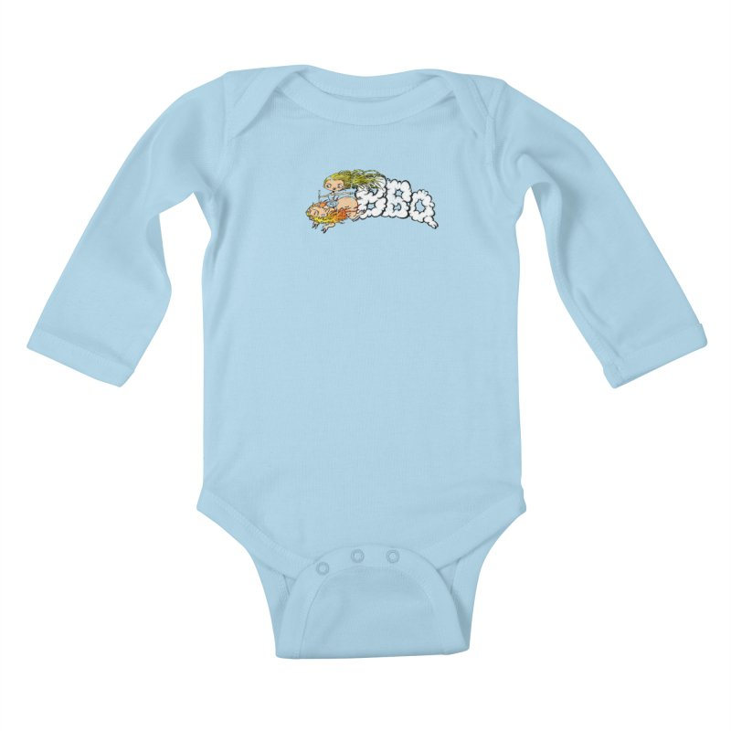 BBQ Kids Baby Longsleeve Bodysuit by Breath of Life Art Studio Shop