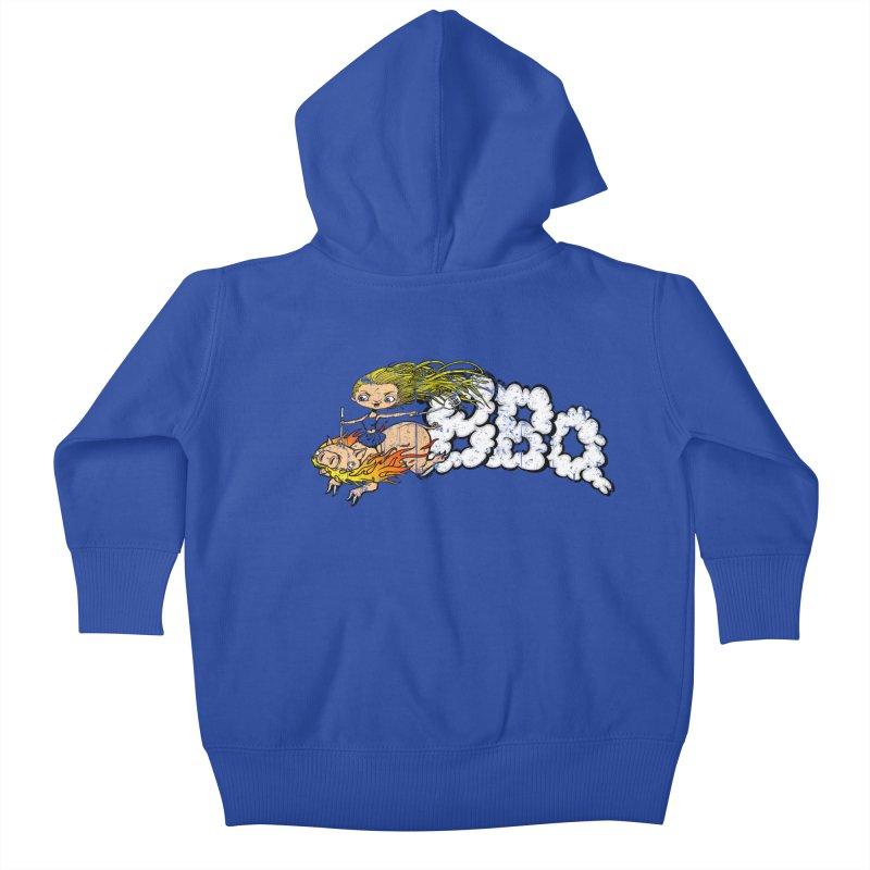 BBQ Kids Baby Zip-Up Hoody by joshforeman's Artist Shop
