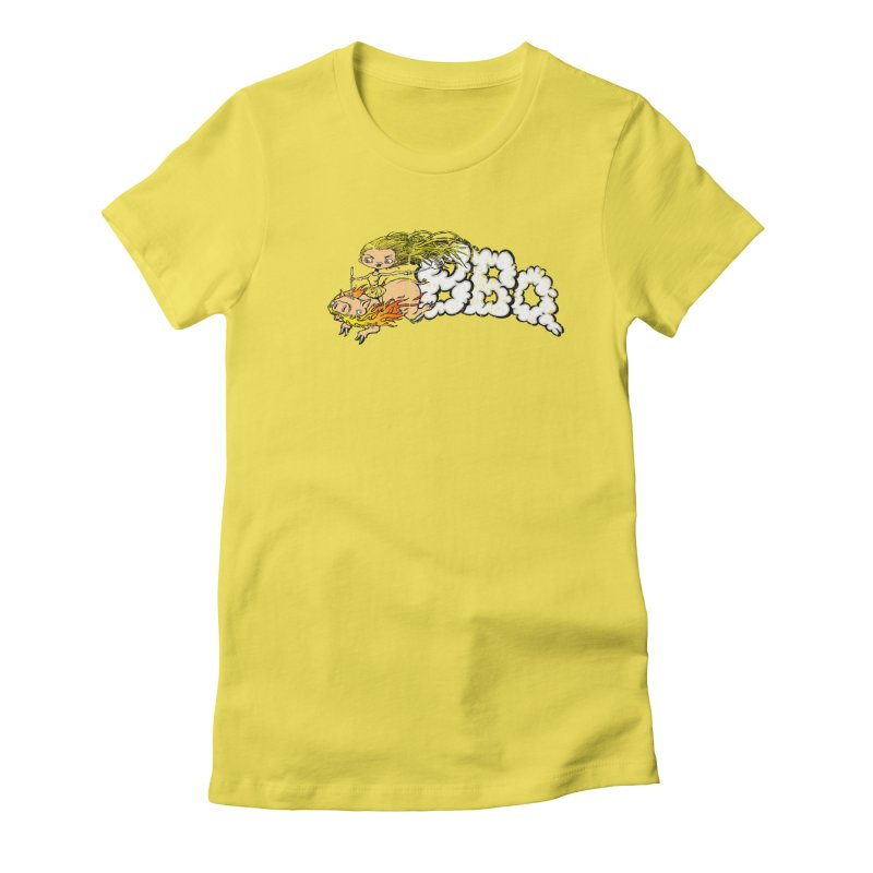 BBQ Women's Fitted T-Shirt by Breath of Life Art Studio Shop