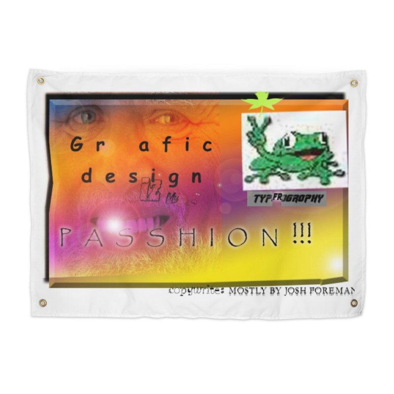 Gra fic design Passhion!!! Home Tapestry by Breath of Life Development Merch Shop
