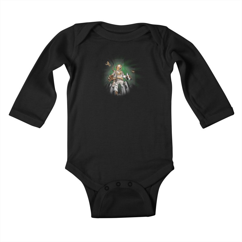 Diver? Kids Baby Longsleeve Bodysuit by Breath of Life Art Studio Shop