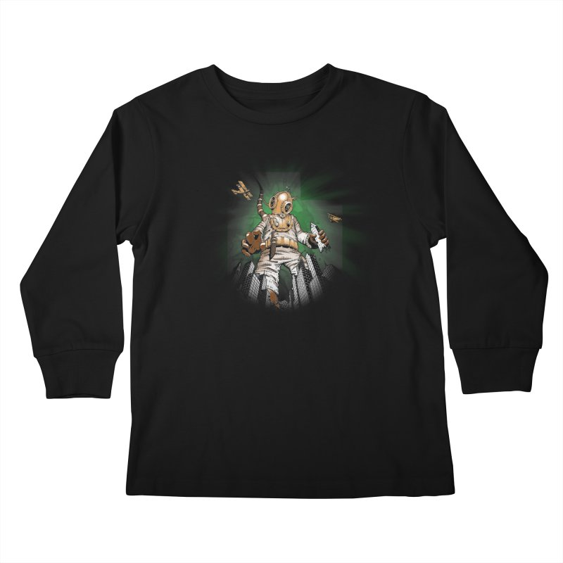 Diver? Kids Longsleeve T-Shirt by Breath of Life Art Studio Shop