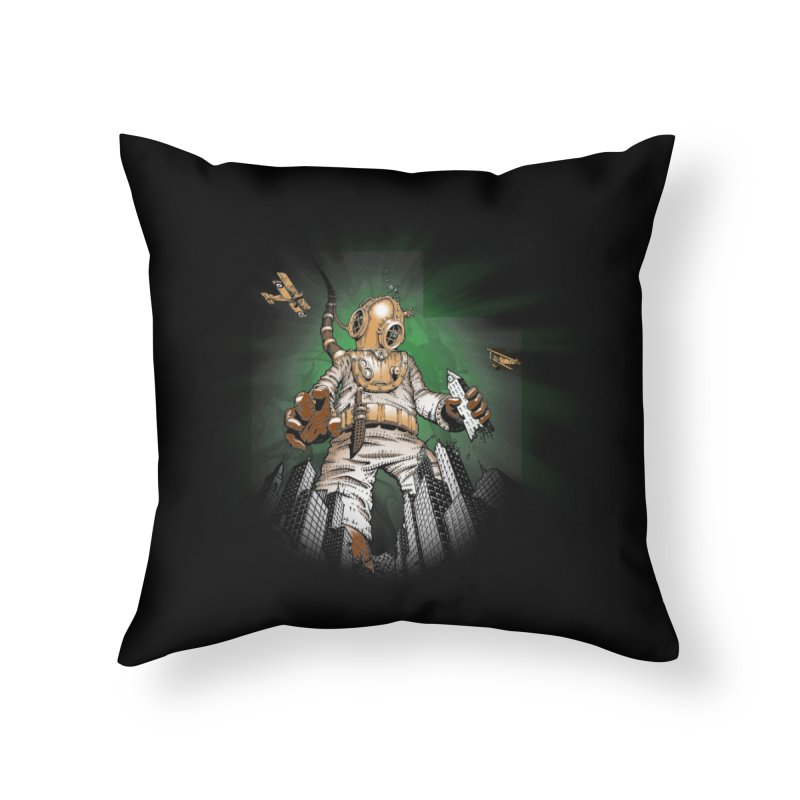 Diver? Home Throw Pillow by Breath of Life Art Studio Shop