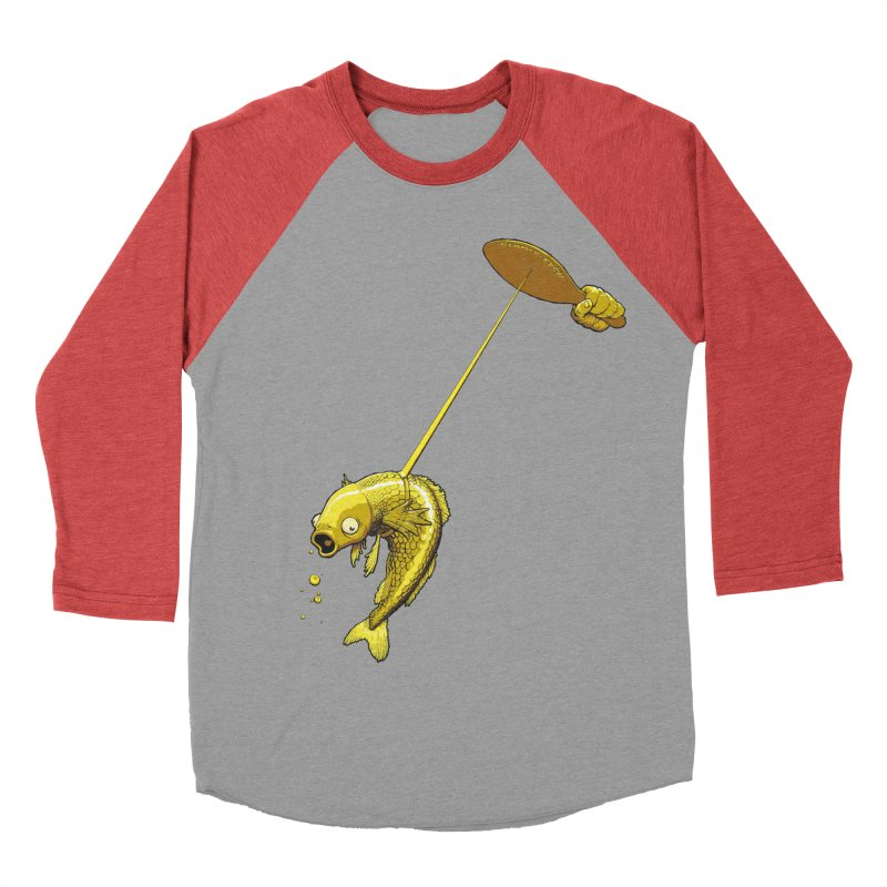 Slappy Fish! Men's Baseball Triblend T-Shirt by joshforeman's Artist Shop