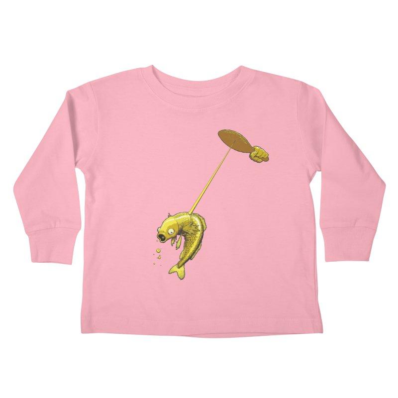 Slappy Fish! Kids Toddler Longsleeve T-Shirt by Breath of Life Art Studio Shop