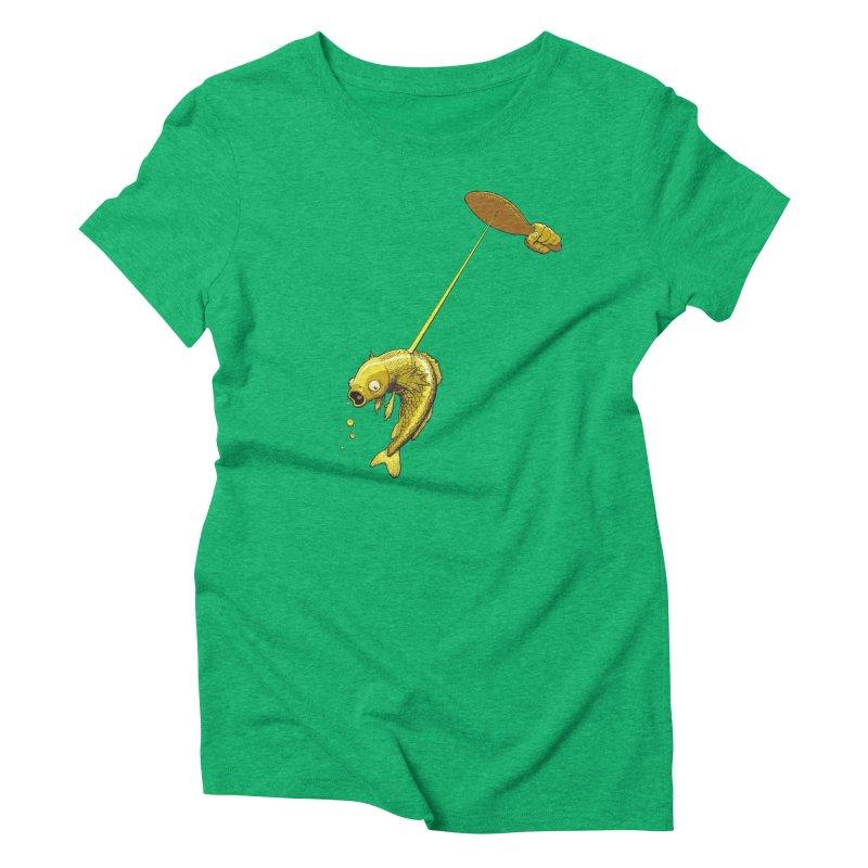 Slappy Fish! Women's Triblend T-Shirt by Breath of Life Art Studio Shop