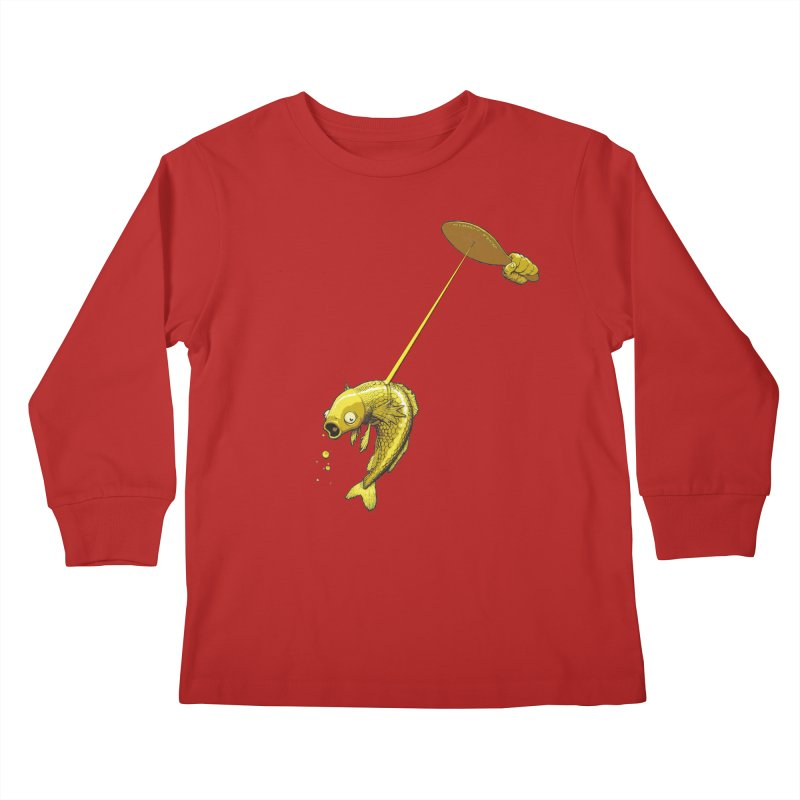 Slappy Fish! Kids Longsleeve T-Shirt by joshforeman's Artist Shop