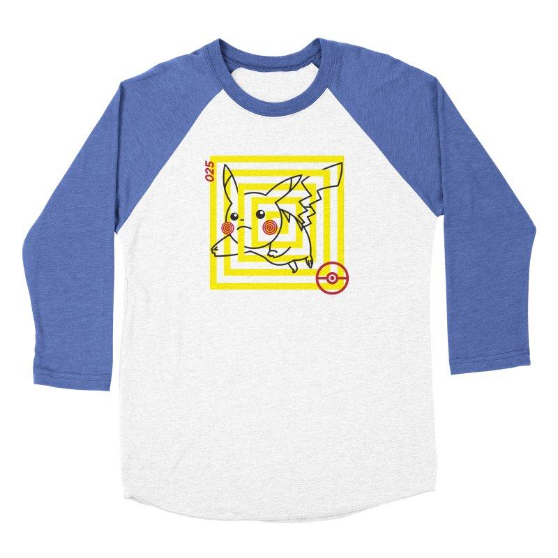 P-025 in Men's Baseball Triblend Longsleeve T-Shirt Tri-Blue Sleeves by Josh Ln Artist Shop