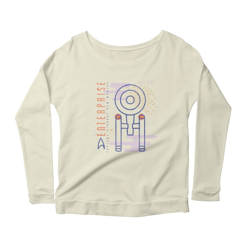 MNML: NCC-1701 in Women's Scoop Neck Longsleeve T-Shirt Natural by Josh Ln Artist Shop