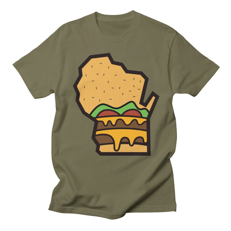 WI Cheddar Men's T-Shirt by Barbell Buffet