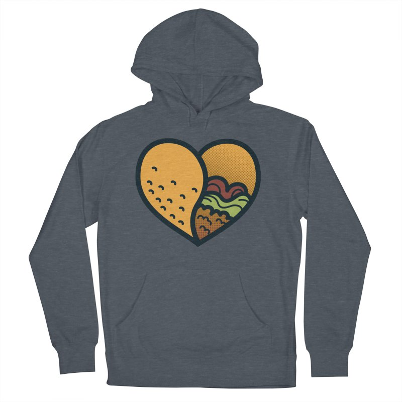 Taco, My Love Women's French Terry Pullover Hoody by Barbell Buffet