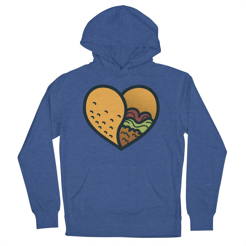 Taco, My Love Men's French Terry Pullover Hoody by Barbell Buffet