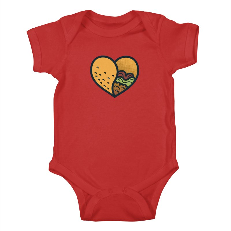 Taco, My Love Kids Baby Bodysuit by Barbell Buffet