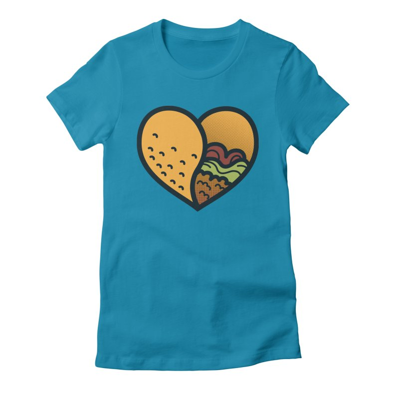 Taco, My Love Women's Fitted T-Shirt by Barbell Buffet