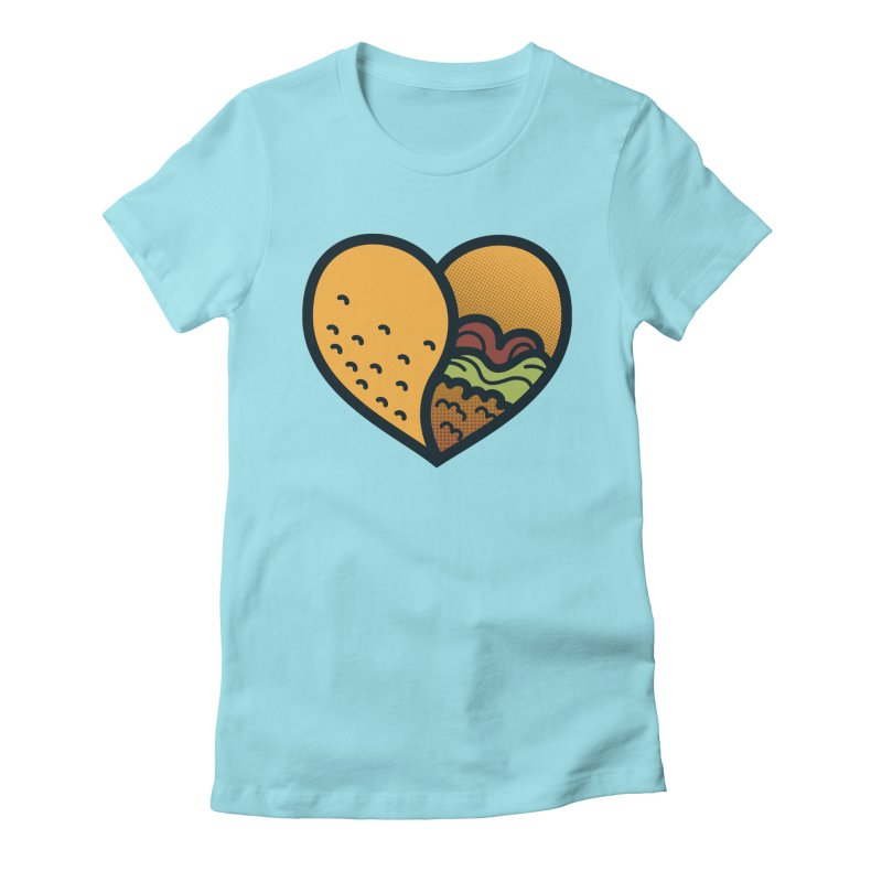 Taco, My Love Women's Fitted T-Shirt by Lush Taco