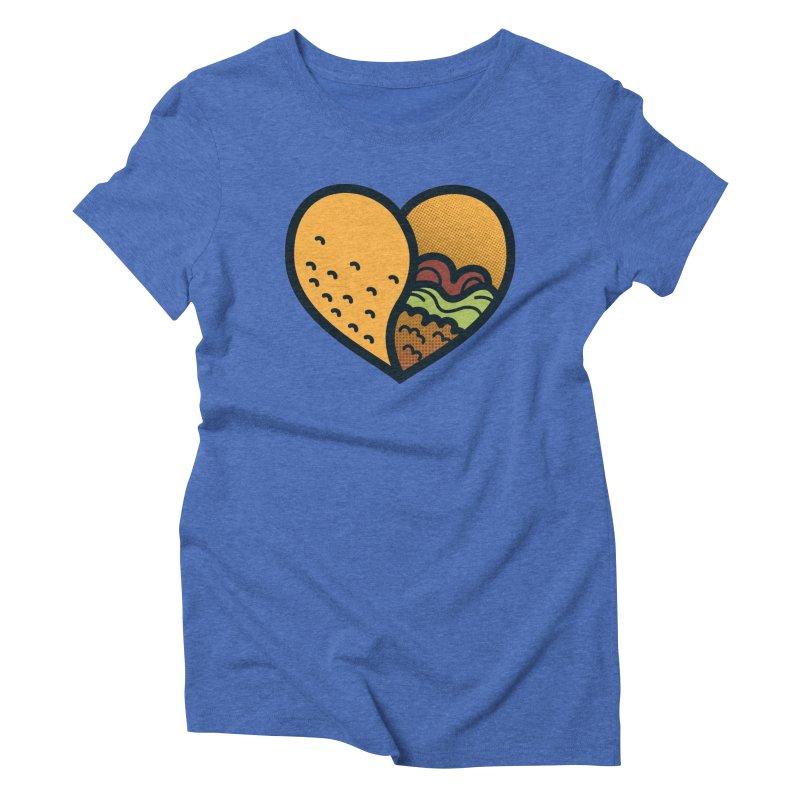 Taco, My Love Women's Triblend T-shirt by Lush Taco