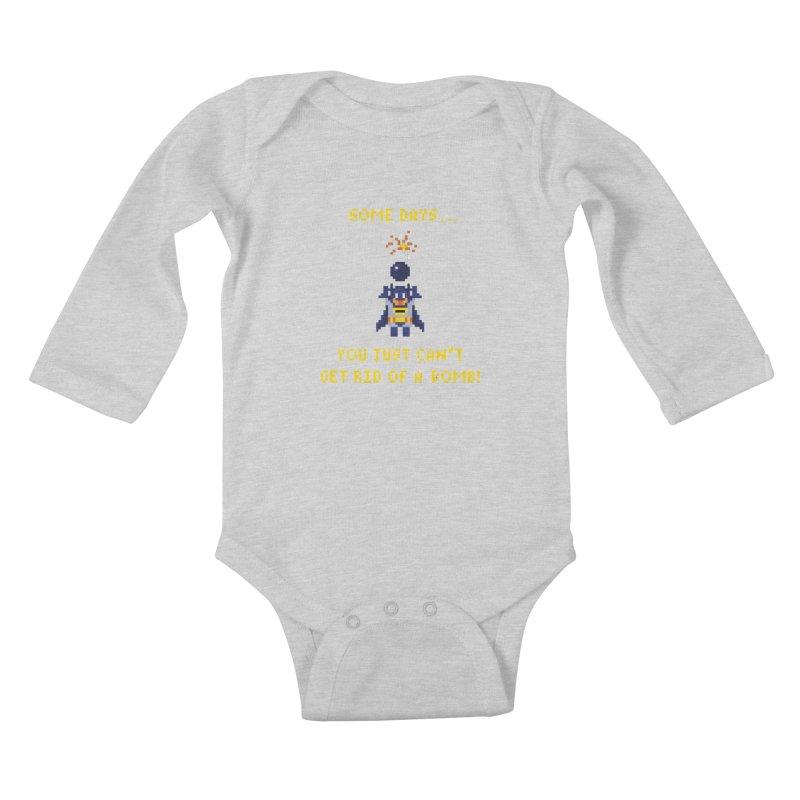 Adam Bomb Kids Baby Longsleeve Bodysuit by joshthecartoonguy's Artist Shop
