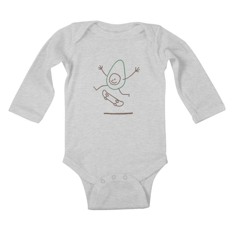 Cado Kids Baby Longsleeve Bodysuit by Joshua Gille's Artist Shop