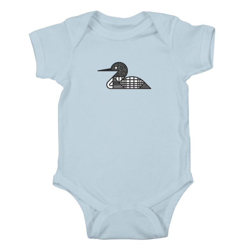 Loon Kids Baby Bodysuit by Joshua Gille's Artist Shop