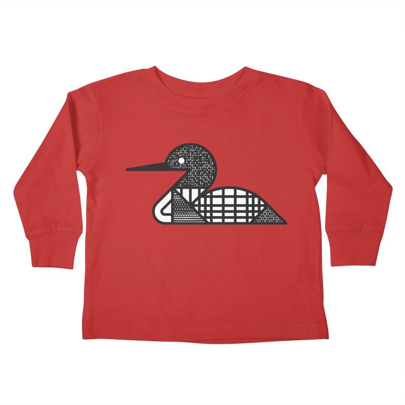 Loon Kids Toddler Longsleeve T-Shirt by Joshua Gille's Artist Shop